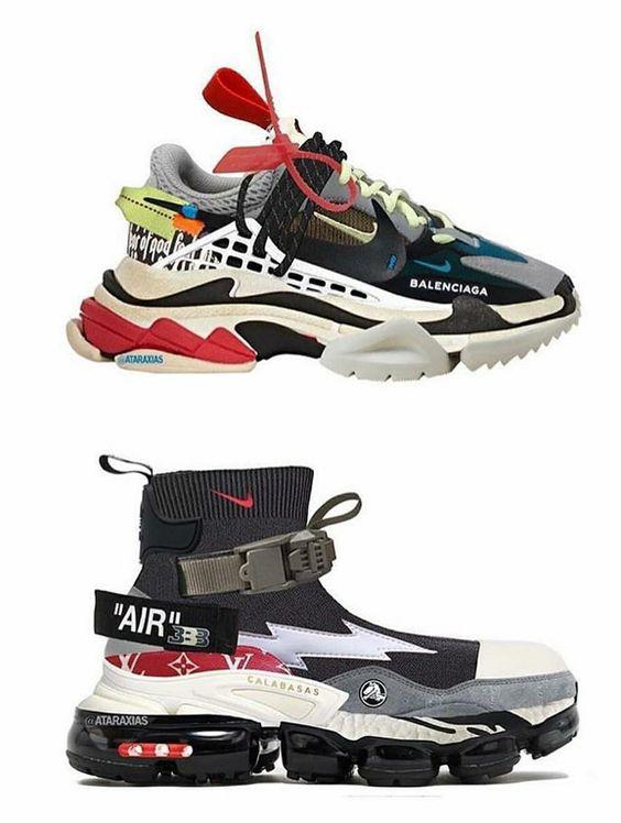 Яркие кроссовки уличного стиля бренда Balenciaga.