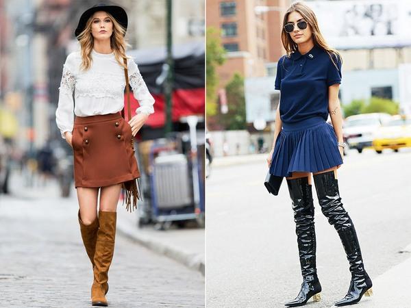 Чем короче юбка – тем выше должны быть сапоги