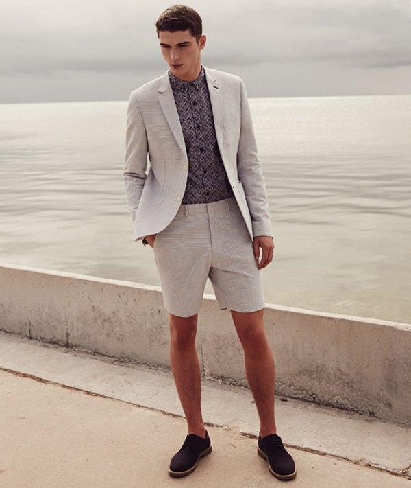 Замшевые туфли мужские хорошо сочетаются с шортами