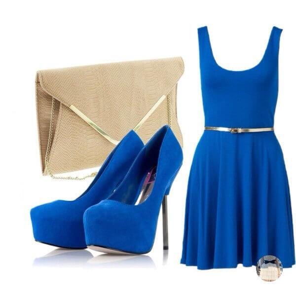 Замшевые туфли синего цвета – сдержанная роскошь делового наряда
