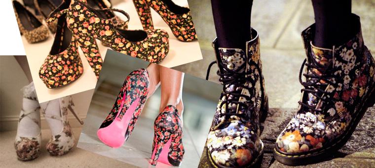 Цветочные мотивы уместны в любой весенней обуви.