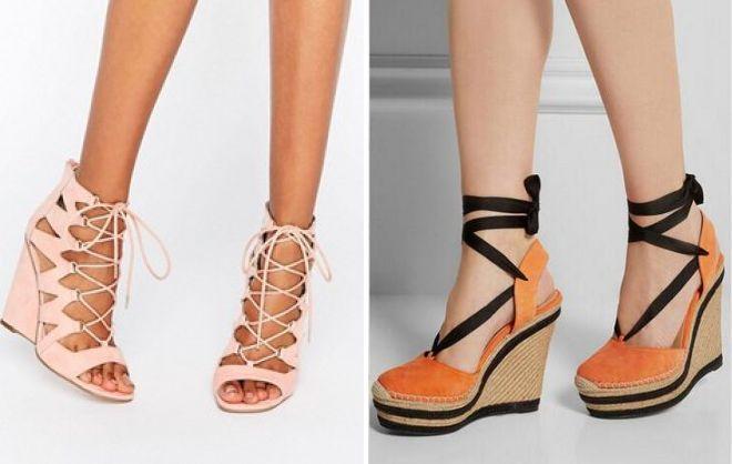 Шнуровка придает обуви элегантность.