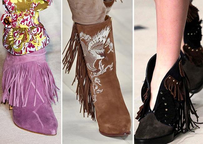 Обувь с бахромой - модная новинка весеннего сезона.