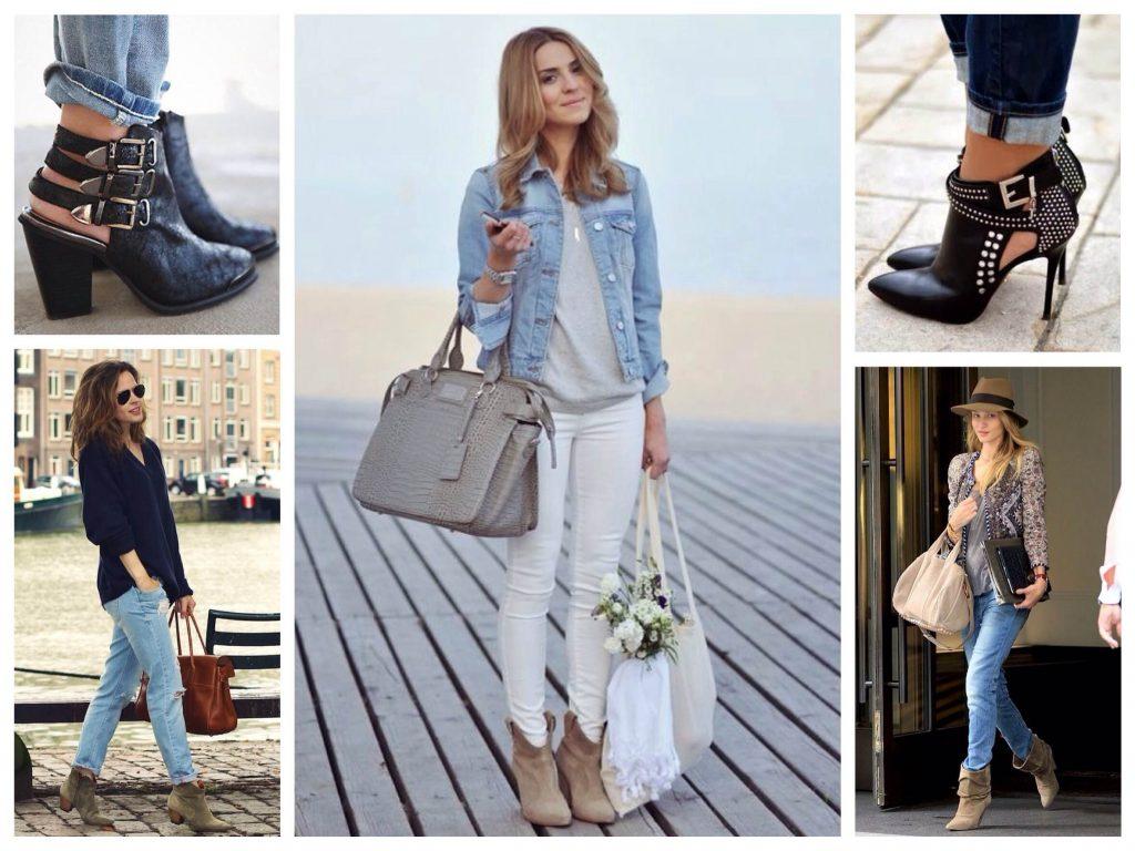 Ботинки с джинсами - классическое сочетание весеннего гардероба.