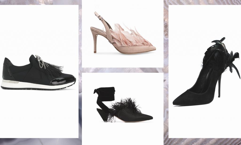 """Туфли с перьями - лучший """"выходной"""" вариант модницы."""