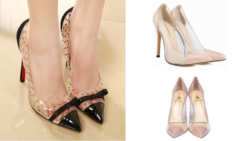 Прозрачные вставки придают обуви экстравагантности и стиля.