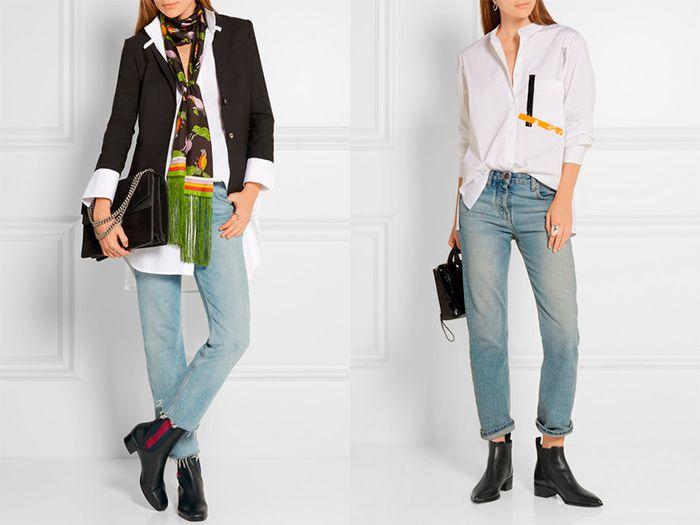 Джинсы и ботинки челси - идеальная пара для повседневных образов.
