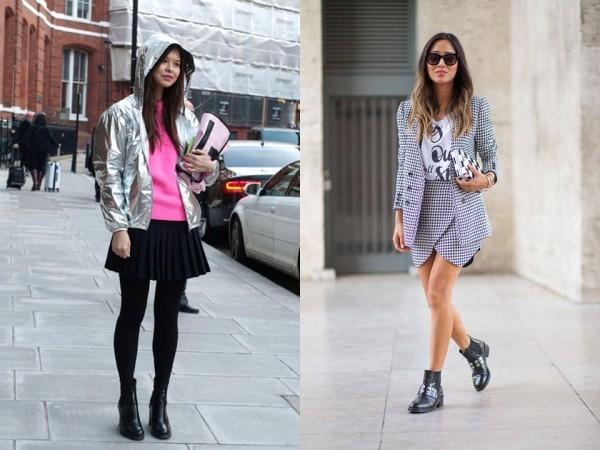 Челси и юбки-мини - эффектное и женственное сочетание.