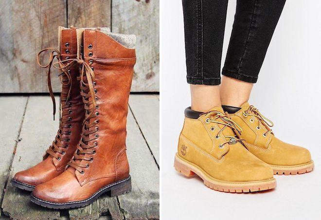 ТОПовые оттенки ботинок нового сезона - это карамельно-коричневая гамма.