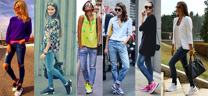 Кроссовки - универсальное дополнение женского гардероба.