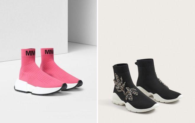 Кроссовки-носки - необычное и стильное решение для ярких луков.