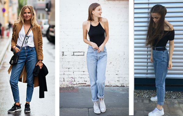 Кроссовки прекрасно дополняют, как светлые, так и классические синие джинсы.