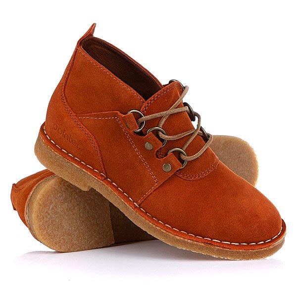 Яркие медно-коричневые ботинки оживят любой ансамбль.