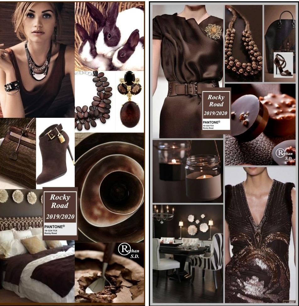 Rocky Road – земляной оттенок коричневого, тёмный и глубокий, схожий с чёрным шоколадом.