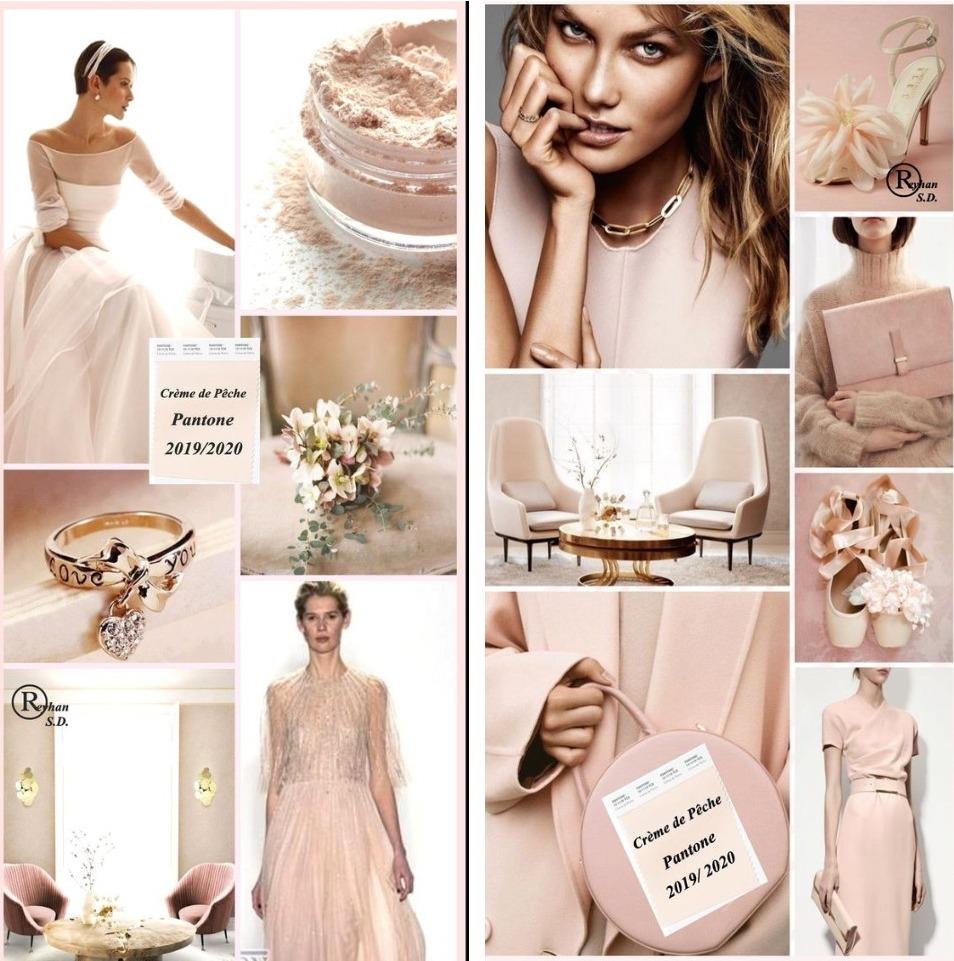 Crème de Pêche – такое утончённое французское название носит оттенок заварного крема с розовато-персиковым подтоном
