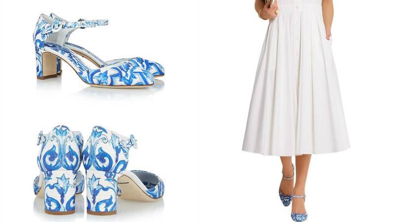 Обувь с растительным мотивом великолепно дополнит белые платья и сарафаны.