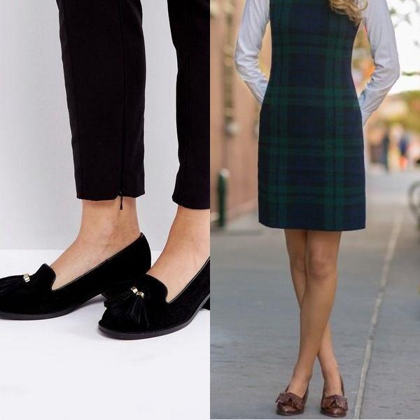 Туфли с кисточкой прекрасно подходят под классические деловые образы.