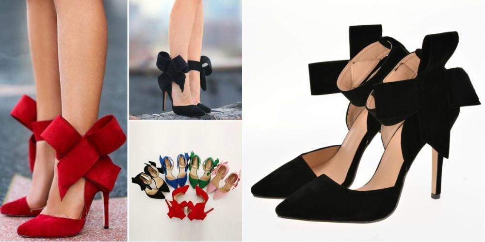 Летние туфли с бантиками выглядят очень женственно и актуальны в разных оттенках.