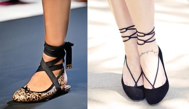 Обувь а-ля пуанты - тренд этого лета.