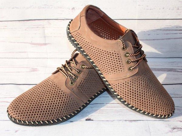Модные летние туфли в благородном оттенке с перфорацией.