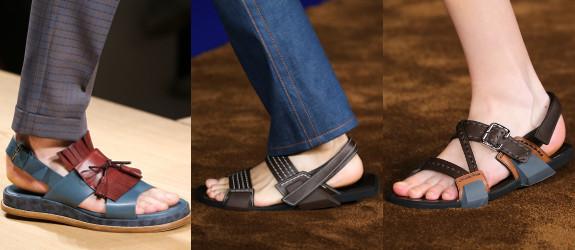 Эффектные мужские сандали для летних образов.