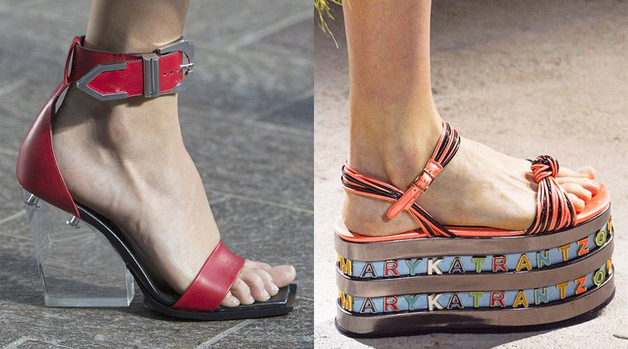 Современная женская обувь точно не является скучной.