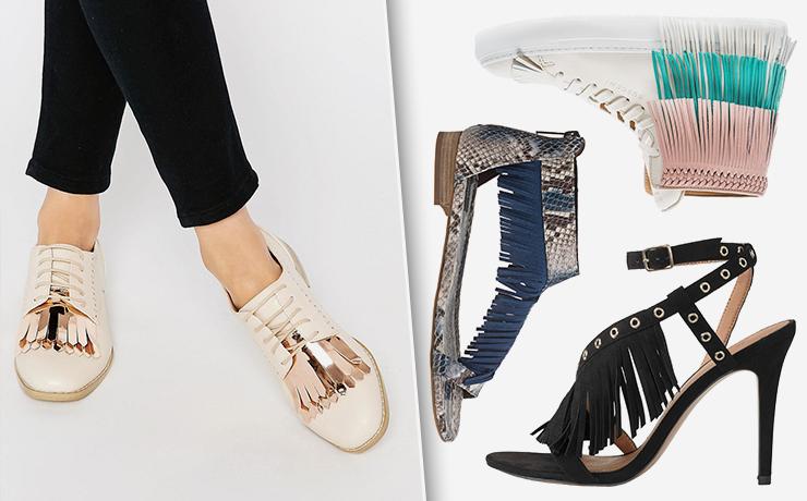 Обувь с бахромой - модная находка для смелых женщин.