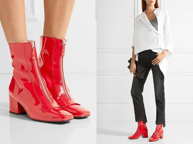 С грамотно подобранной одеждой лакированная обувь будет смотрится восхитительно