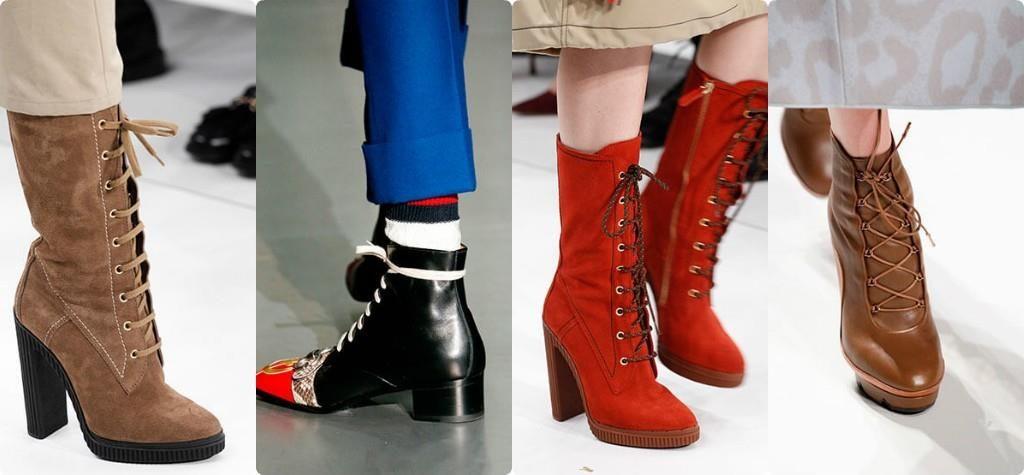 Модные сапоги в этом году - со шнуровкой. Они прочно заняли модный Олимп