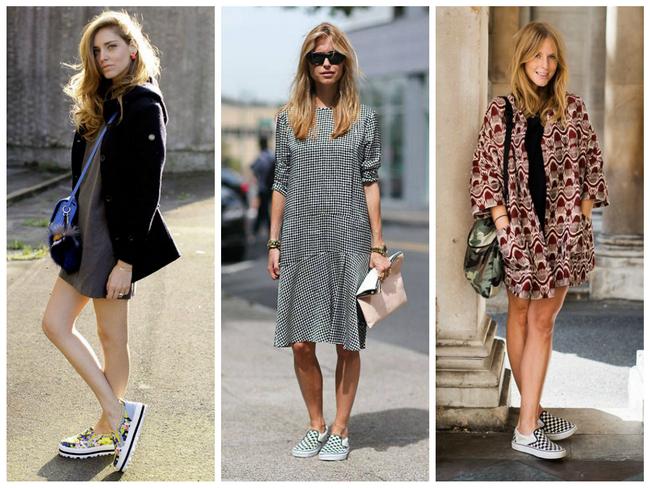 Обувь с рисунками может выбираться под принт платья или отличаться