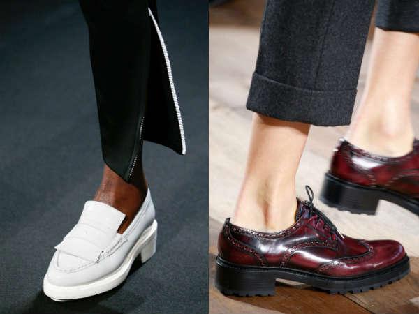 Такие туфли могут сочетаться даже со спортивной одеждой или наоборот классическим костюмом