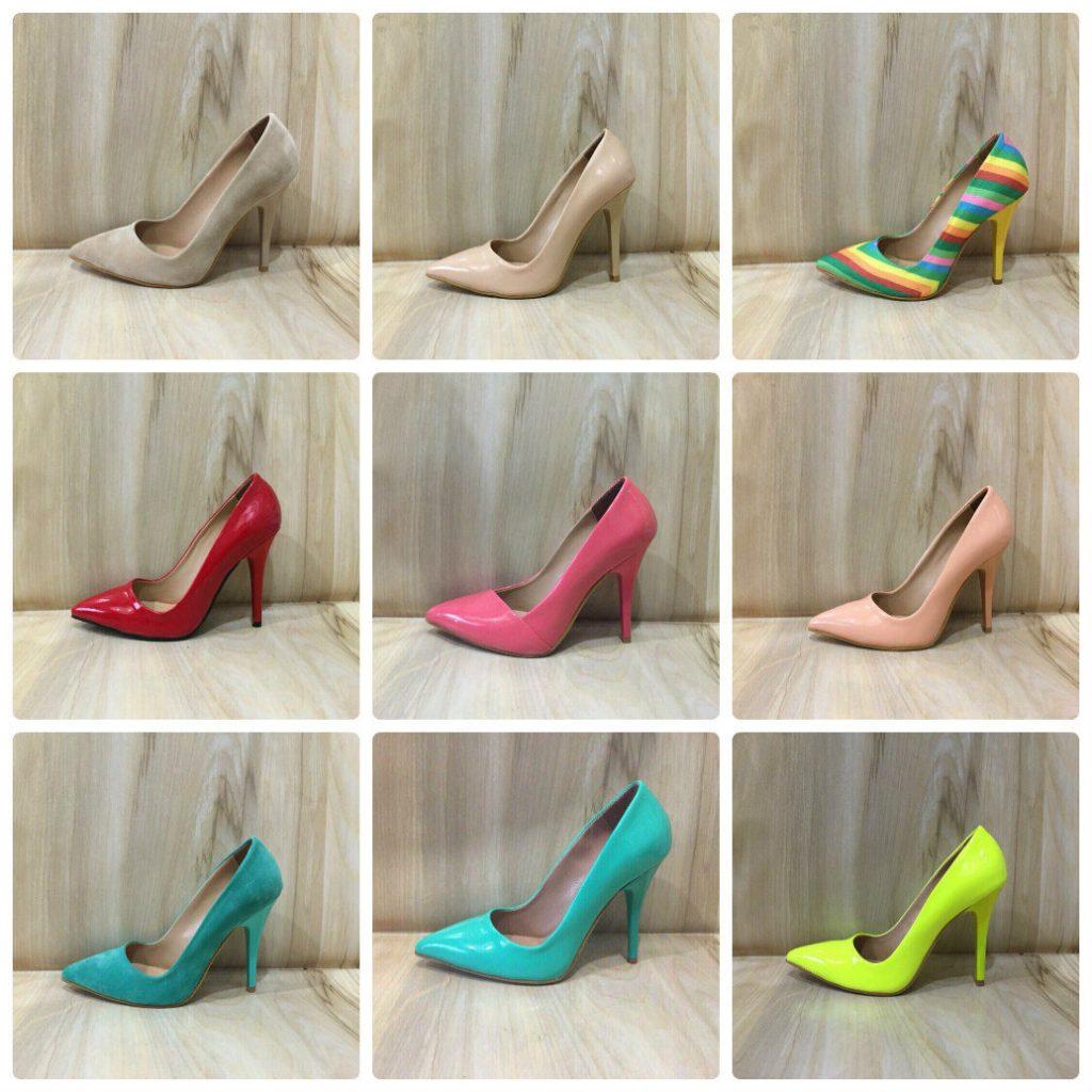 Туфли на шпильке разных цветов даже выглядят по-разному