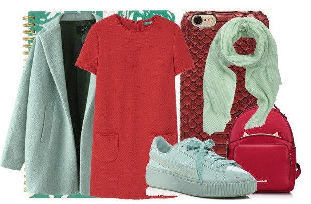 Не бойтесь экспериментировать с красными платьями.