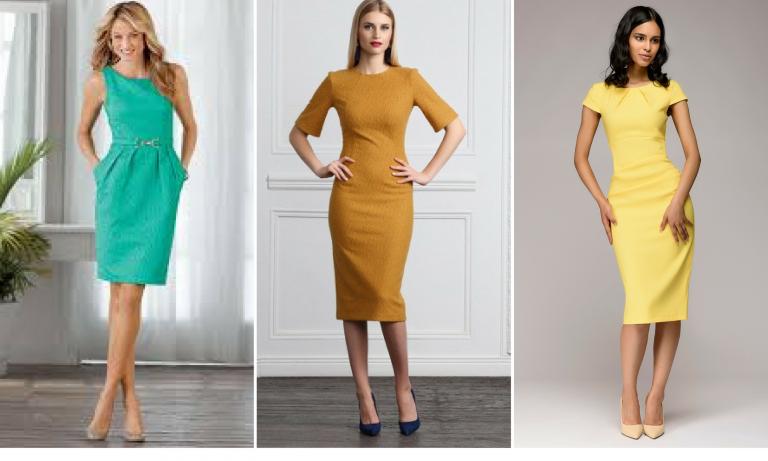 Лодочки идеально дополняют платье миди любого цвета.