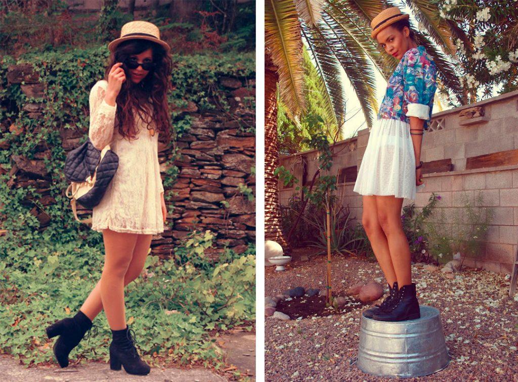 Ботинки с летним платьем - стильное сочетание для лета.