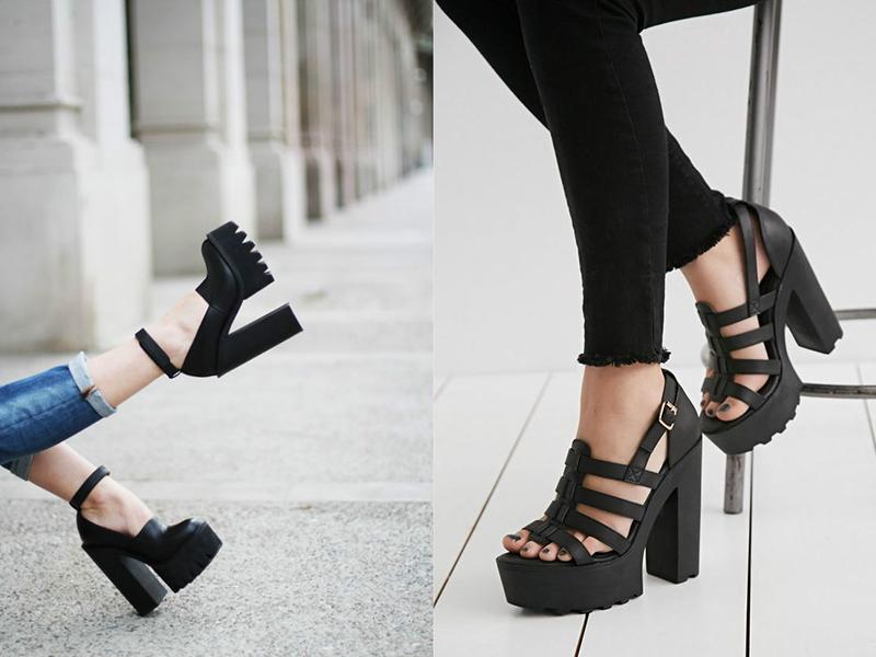 Кожа и эко-кожа - самые популярные материалы для обуви на тракторной подошве.