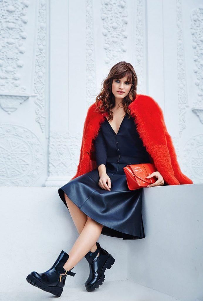Роковой лук в черно-красной гамме для смелой женщины.
