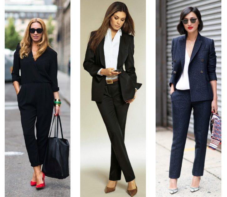 Идеальные вариант к черным брюкам: красная, коричневая или светлая обувь.