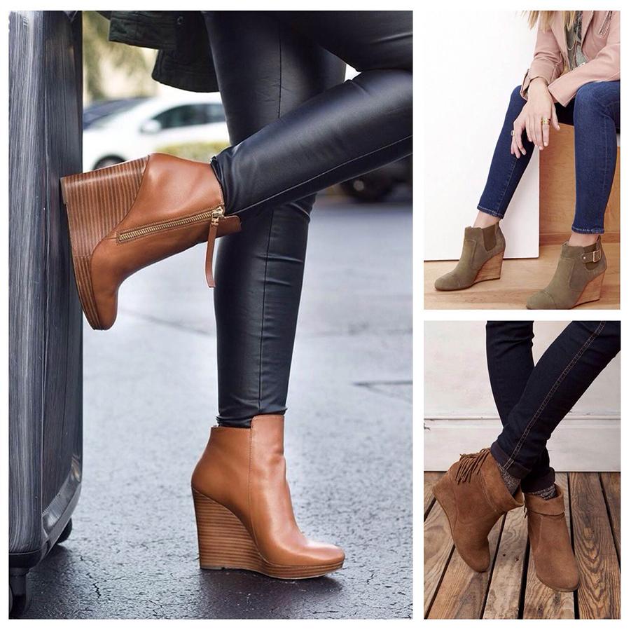 Обувь на платформе комбинируйте с джинсами или кожаными штанами.