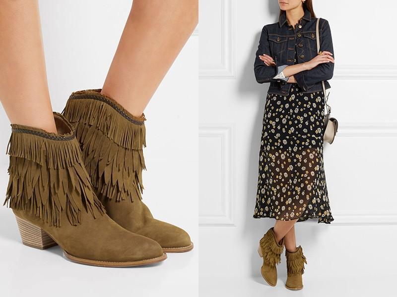 Обувь с бахромой — один из важных элементов бохо.