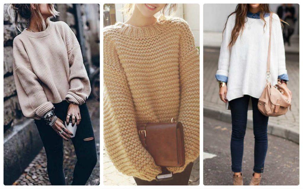 Попробуйте надеть с ботинками уютный мешковатый свитер.