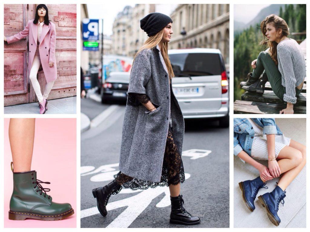 Ботинки на шнуровке сочетаются практически с любыми стилями одежды.