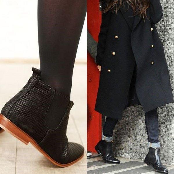Ботинки на низком ходу отлично смотрятся с джинсами в повседневных образах.