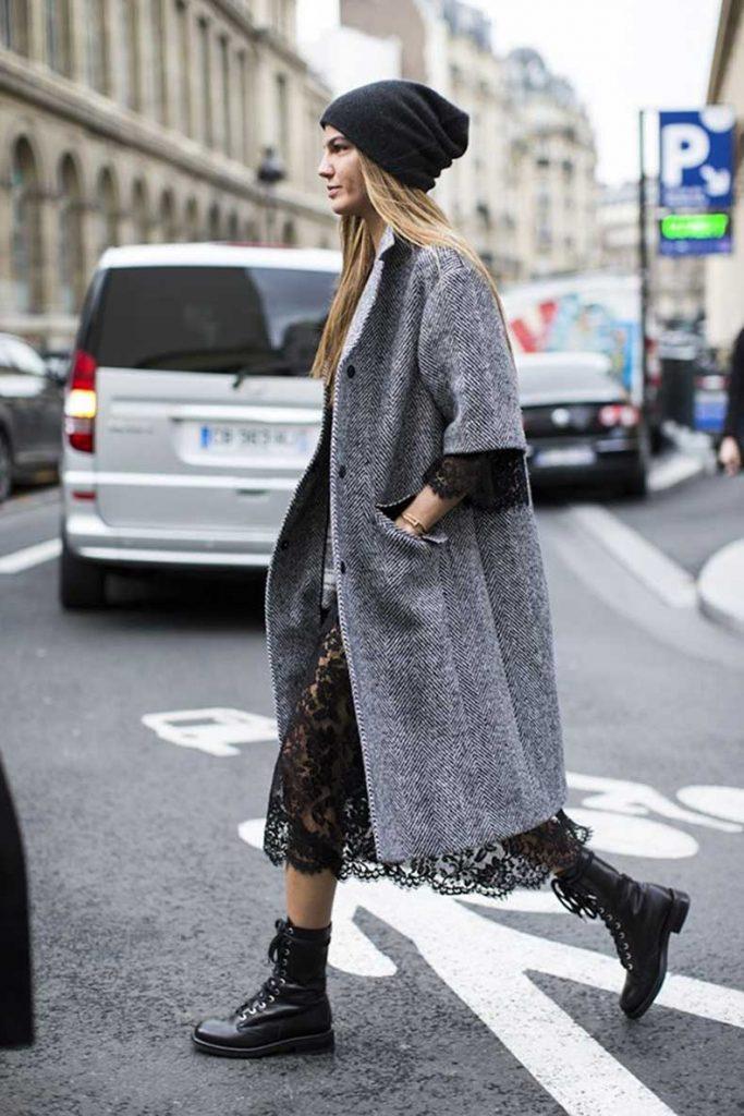 Эклектичный образ с ботинками для смелых модниц.