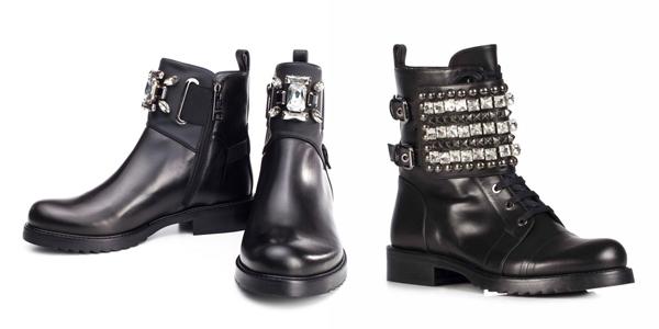 Рокерские ботинки всегда актуальны в женском гардеробе.