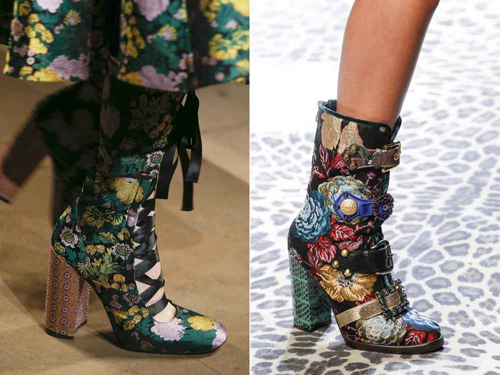Ботинки с цветочным принтом - фешн-новинка для ярких модниц.
