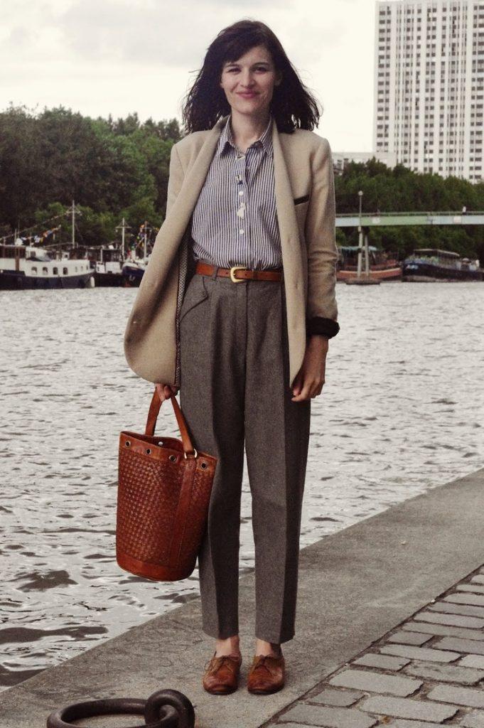 Традиционные вариант броги - низкие туфли в коричневом цвете,