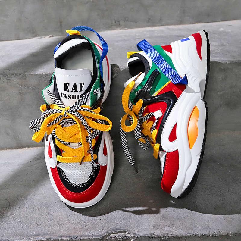 Креативные разноцветные кроссовки - тренд этого сезона.