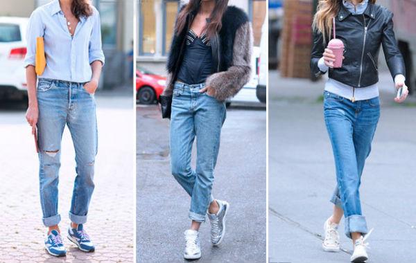 Кроссовки с джинсами - актуальный лук на все случаи жизни.
