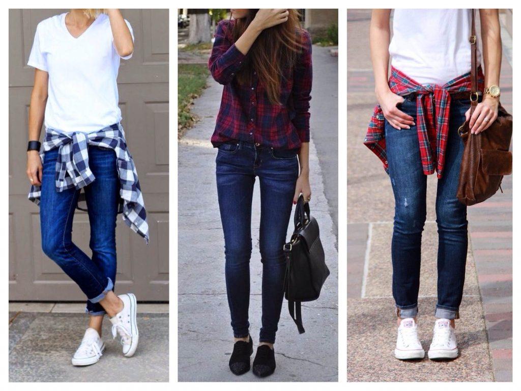 Скинни и джинсы - соблазнительное сочетание, не лишенное элегантности.